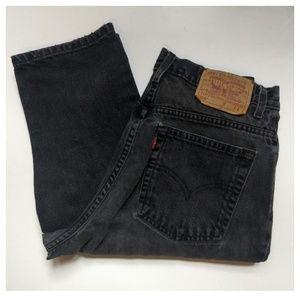 Vintage Levi's charcoal black mom jeans